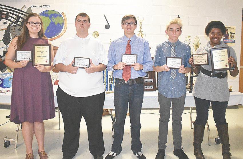McKenzie High School Band seniors (L to R): Sierra Keenan, Michael Wooley, Brady Marr, Owen Reynolds and Cianna Haney.