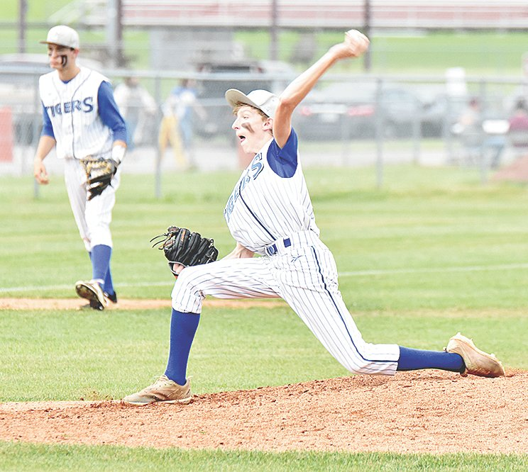 Tiger Thomas Crews earned the complete-game win for Central, allowing five runs (three earned) on nine hits while striking out four and walking three.
