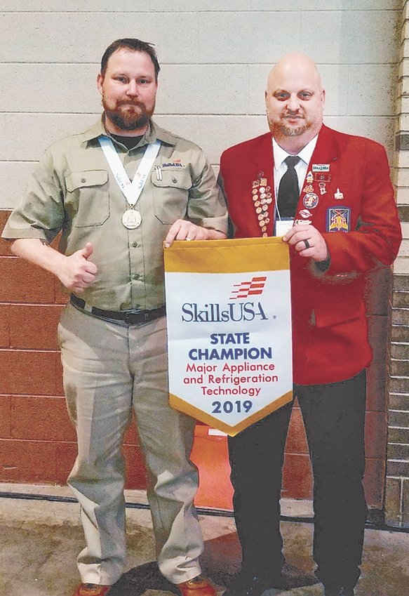 TCAT-McKenzie student Joey Meeks of Sharon won gold in Major Appliance and Refrigeration.