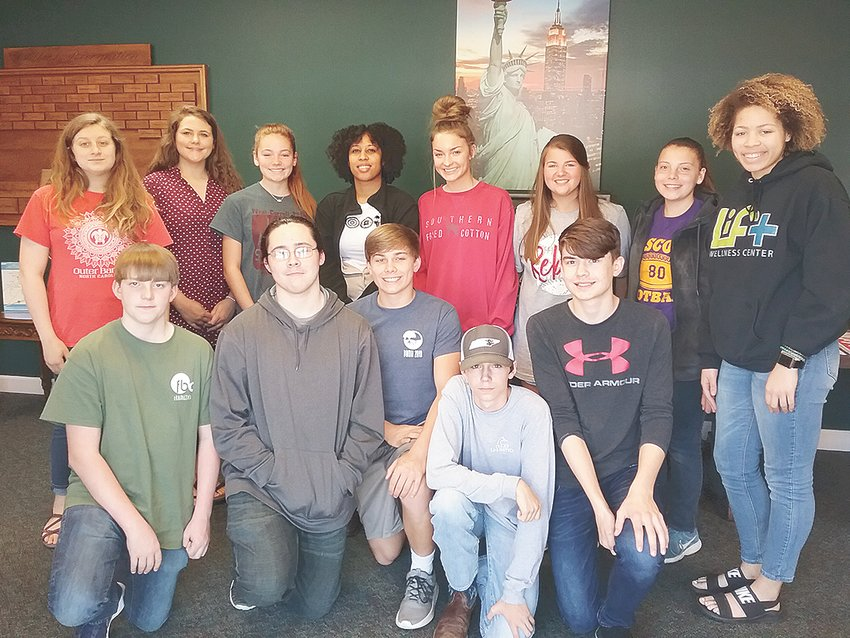 2019 STEM Inspire participants (L to R): Front Row — Paxton Neely, Samuel Whitman, Aden Hutcherson, Tyler McDaniel and Landon Winchester; Back Row — Elizabeth Jordan, Shelby Swinford, Natalie Moore, Cameron Lowe, Sadie O'Brien, Jaden Tucker, Shannan Cheney and Erin Norman. Not Pictured are Dorianne Johnson, Tatym Keymon, Alexis McCarty and Anya McNeal.