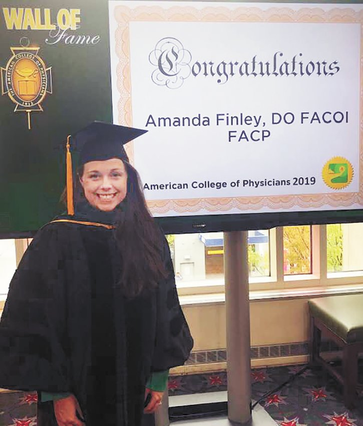 Pictured is Amanda Finley, DO FACOI, hospitalist — Internal Medicine, who recently was elected to the Fellow of the American College of Physicians. Dr. Finley practices in the Henry County Medical Center Hospitalist Program and is the director of Medical Education and Student Affairs.