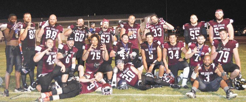 West Carroll's War Eagle Alumni with their winner's trophy.