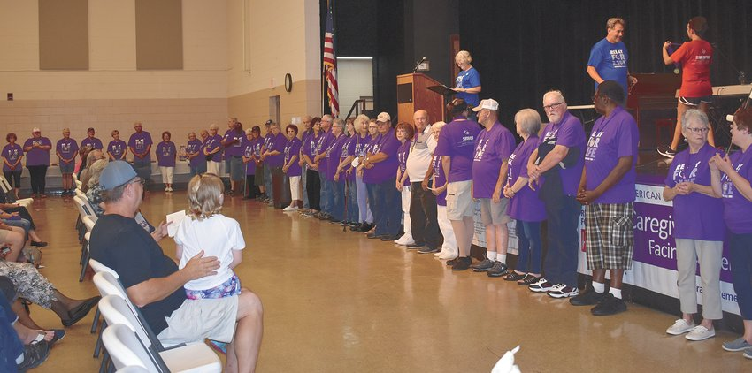 Over 70 plus survivors recognized at the Relay For Life event.