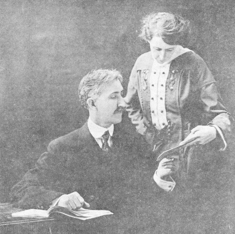 McKenzie School System Superintendent J.D. Mullins with who is assumed to be either his secretary or wife.