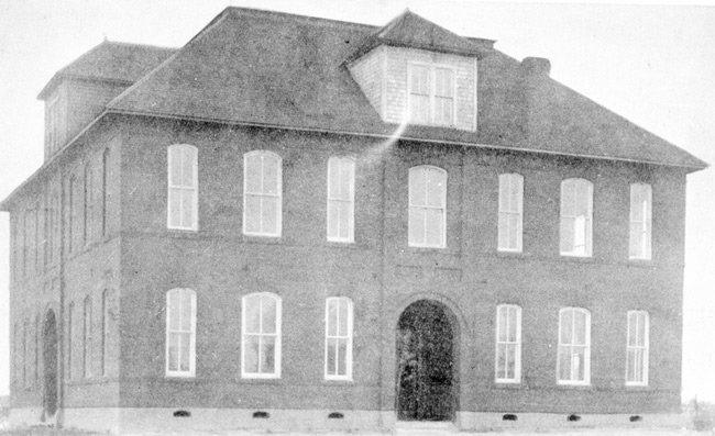 The early McKenzie school building taken between 1905 and 1930.