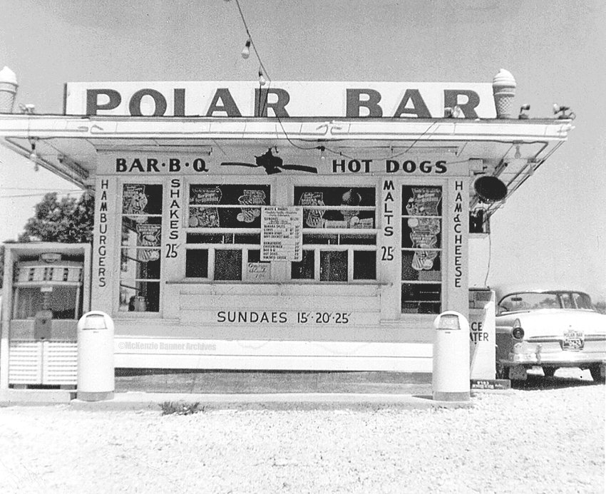 The Polar Bar, owned and operated by Junior and Ruth Owen, was a popular gathering place for young and old alike. Pictured is the building as it looked on their first day of business on March 1, 1957.