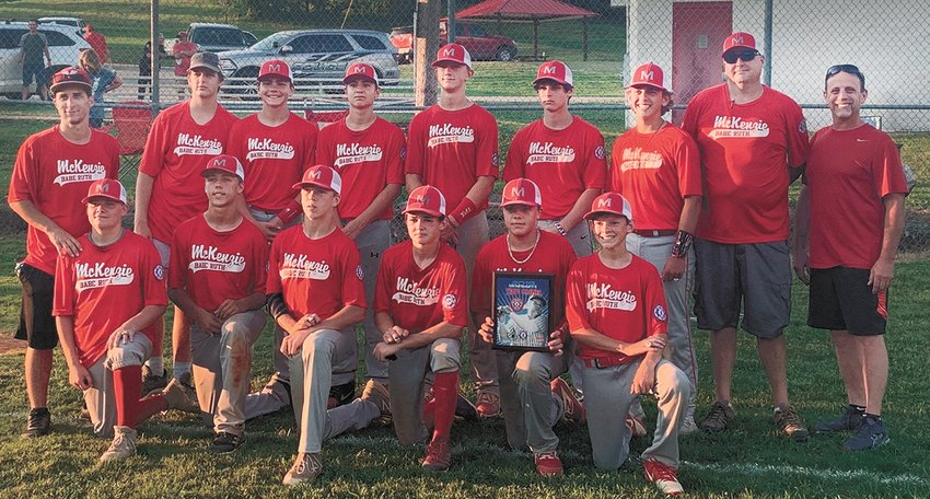 On June 30, the McKenzie Babe Ruth team won the Western Tennessee State Championship over Bruceton in a slugfest 28 to 12 in the first game and 13 to 3 in the second game to win the championship. Front row (L to R) Dawson Brush, Chaten Bivens, Zayden McCaslin, Collin McLearen, Nolan Renfro, and Lute McCaslin. Back Row - Coach Josiah Fisk, Coach Brayden Lifsey, Tate Surber, Braden Birmingham, Jackson Cassidy, Cameron Burke, Sawyer Phipps, Coach Mike Lifsey, Coach Jay Phipps, Not Pictured - Ty and Lane Anderson.