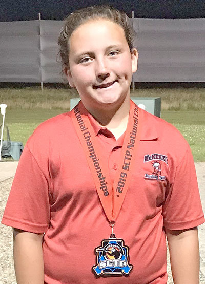 Morgan Hilliard placed second in the nation in ladies rookie sporting clays.