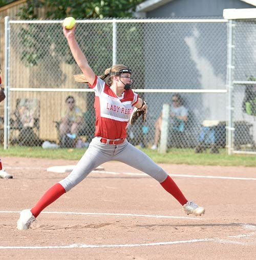 Lady Rebel pitcher Belle O'Brien earned the complete-game shutout over Dresden Tuesday, allowing one hit while striking out seven and walking one.