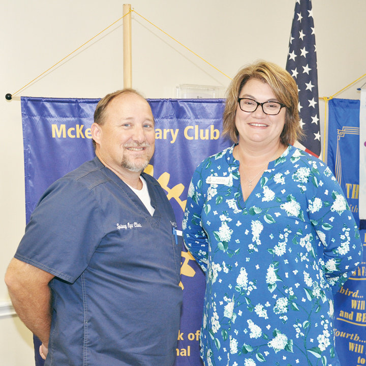 Pictured is Dr. Scott Spivey and Donna Vick.