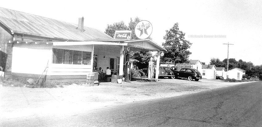 Bannister's Grocery & Texaco, 1940s to early 1960s, on Cedar St. Owned & operated by Clyde Bannister and later Jimmie and Alene Bannister.