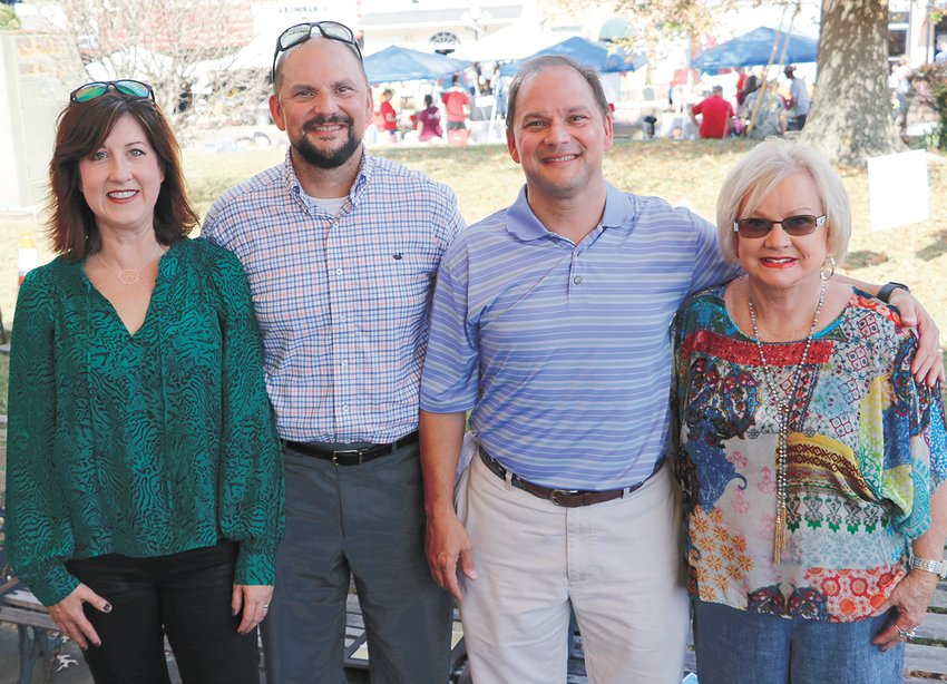 (L to R) Susan, Mike, Mark and Sylvia Cary share in the celebration of Mike Cary being honored as Citizen of the Year.