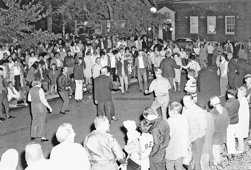 1960s, Street Dance on Banner Row in Downtown McKenzie.