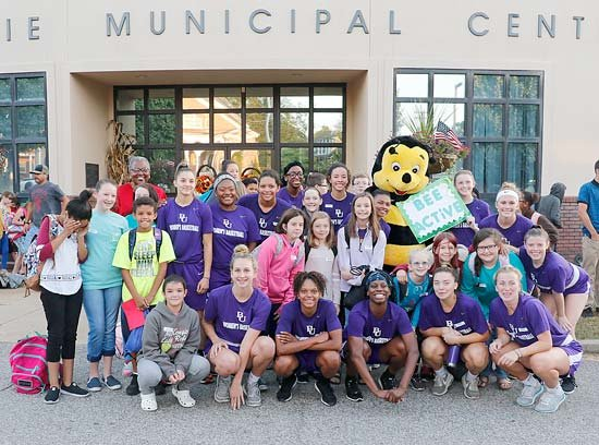 Bethel's Lady Wildcat Basketball Team participated in the walk to school with McKenzie Middle School students on October 4. Students walked from McKenzie City Hall to the school.