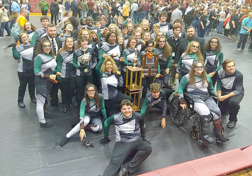 The Huntingdon Marching Mustangs earned second place in finals competition.