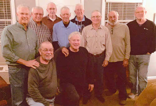 Pictured are (L to R): Kneeling — Les Putman and George Abernathy; Standing — Terry Howell, Ricky Cozart, Donald Drewry, Coach Jerry Escue, Stan McDonald, Richard Lemonds, Kendal Headden and Jim Alexander.
