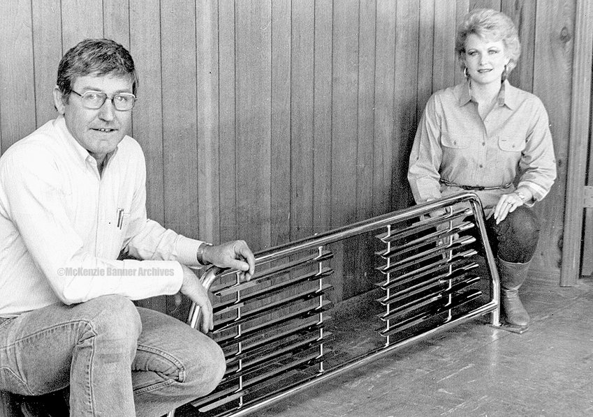 Road Industries, early 1980s. L to R: Lynn Russell and Judy White.