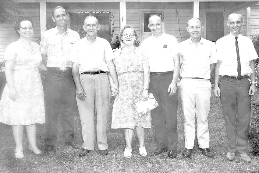The Purvis Family (L to R): Mildred Purvis Smith, Lloyd Purvis, Parents Barnie and Susie Purvis, Leon Purvis, Glynn Purvis and Jimmy Lee Purvis.