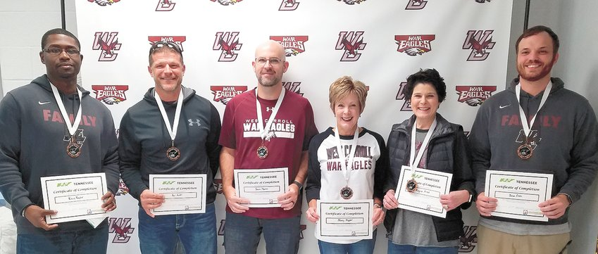 Third Place team War Eagles (L to R): Titus Taylor, Paul Acuff, Jason Martin, Nancy Hopper, Regina Alred and Jason Fitch.