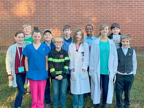 West Carroll Elementary School students dressed for their chosen careers as part of the school's district Early Postsecondary Opportunities Week.