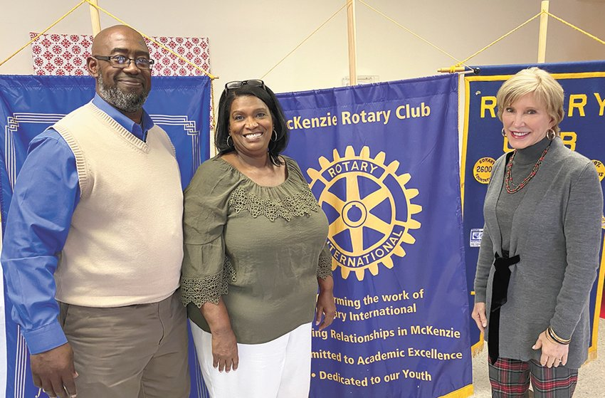 Pictured Right is Craig and Renee Hobson and Rotarian Jill Holland.