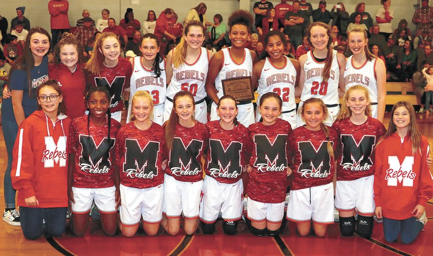 Carroll County Middle School Girls Basketball Champion McKenzie Lady Rebels.