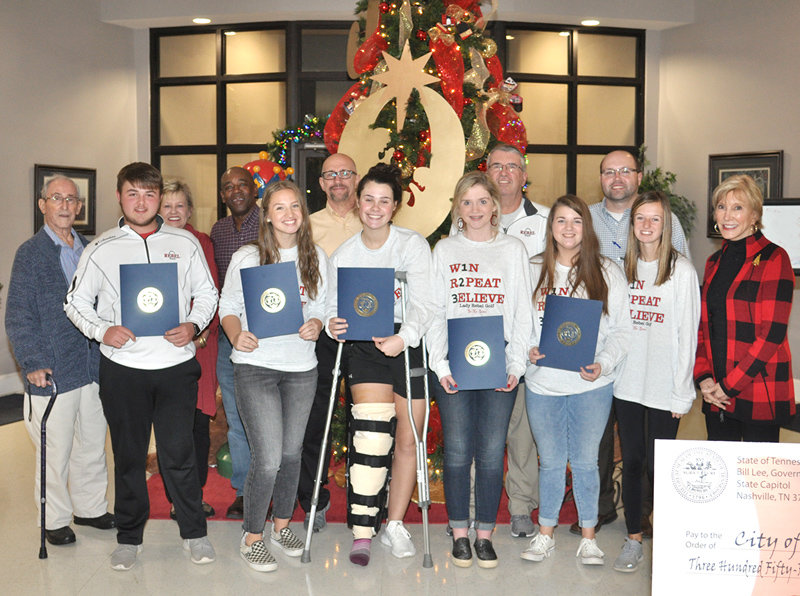 Members of the McKenzie City Board of Mayor and Council praised the McKenzie High School girls golf team and Logan Green for their recent appearance at the state tournament.