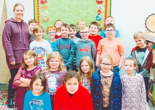 Mrs. Sydney Lane's second grade class at McKenzie Elementary School earned 1,000 points in Accelerated Reader in December. They had 92 percent correct and are the first class at McKenzie Elementary to achieve this goal this year.