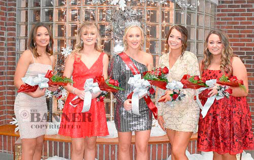 McKenzie High School Homecoming Royalty (L to R): Carrie Becker, Kennedy Green, Queen Shelby Davis, Lilli Taylor and Jenna Tucker.