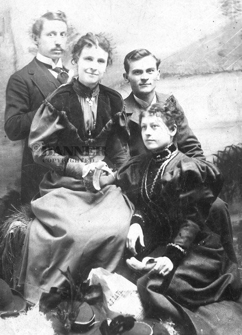 Cyrus and Callie Moore Wrinkle of McKenzie with Mr. and Mrs. J.Q. Fonville of Martin, Tennessee.