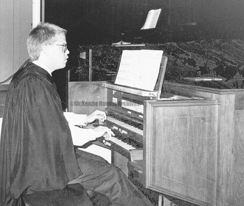 Vince Edwards, McKenzie High School and Bethel College alumnus, choral director of St. Peter's Episcopal Church in Chesshire, CT., 1993.