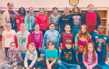 Congratulations to Mrs. Tiffany Smith's fourth grade class at McKenzie Elementary School for earning 1,000 Accelerated Reader points in March. They had 91 percent correct.