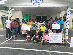 HUNTINGDON (June 13) — Members of Smyrna Baptist Church hosted a surprise parade caravan Saturday for Rev. Lonnie and Mary Parker on their 27th anniversary. The couple was also presented with gifts. The event was organized by Necy King.