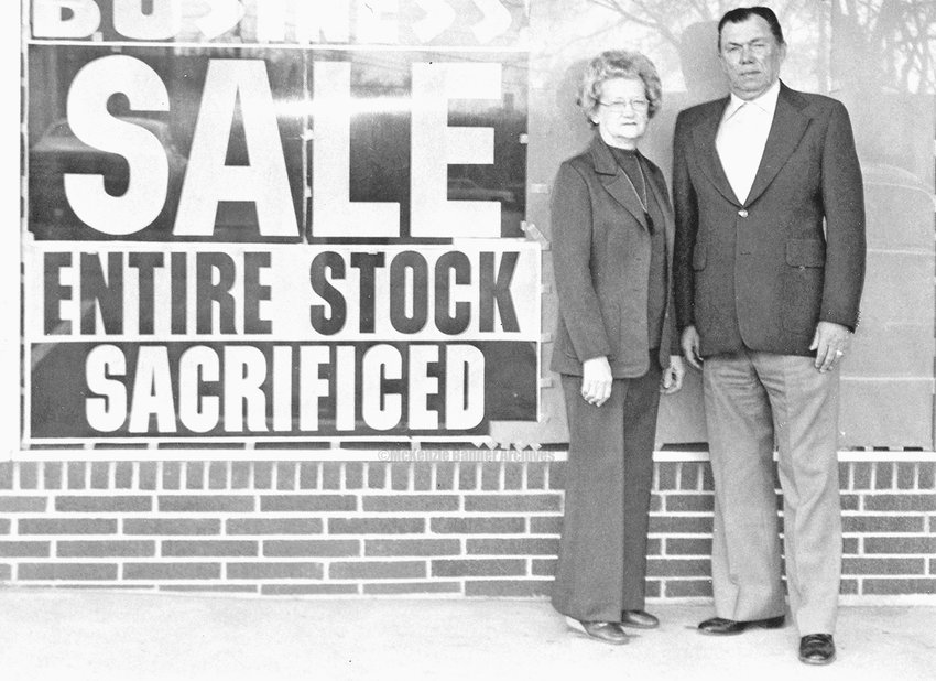 Mr. and Mrs. Wendell Richardson Owned and Operated Richardson's, a department store, for many years. They are shown here in the early 1980's when the store closed.