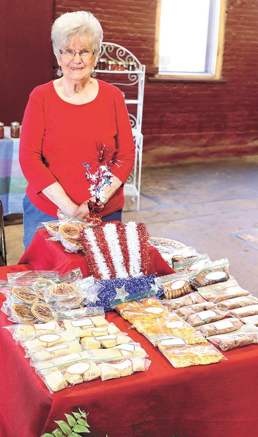 Betty King with some of her homemade treats for sale. Betty is one of several regular vendors at the Farmers Market.