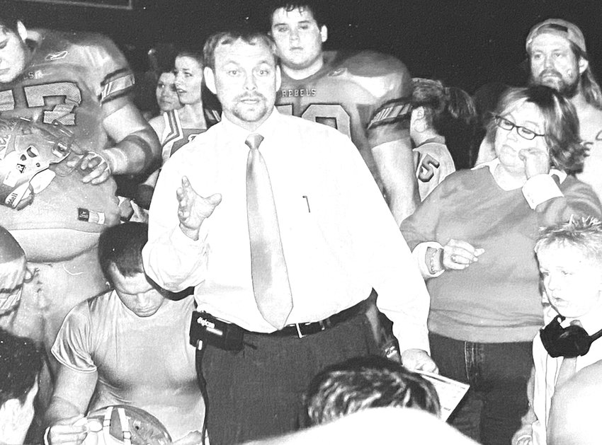 After every, game win or lose, Coach Wade Comer tells his players the positives of the game.