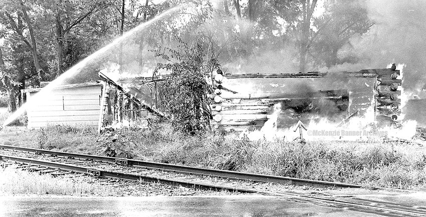 Fire at Log Cabin Market, 1987.