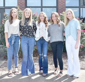 MHS Homecoming candidates (L to R): Lauren Mansfield, Kennedy Green, Savanah Hill, Anna Grace Spivey and Maggie Glass.