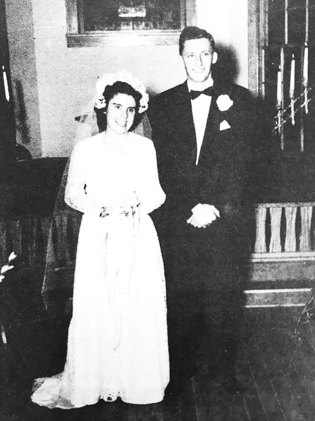 Ed and Lucille Brashear on their wedding day,