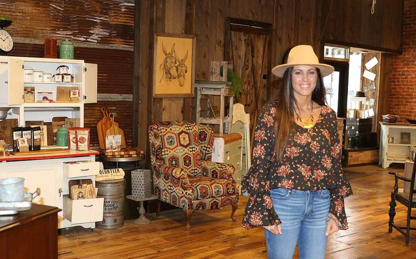 Ashley Little owns and operates the new Urban Trading Company in downtown McKenzie.