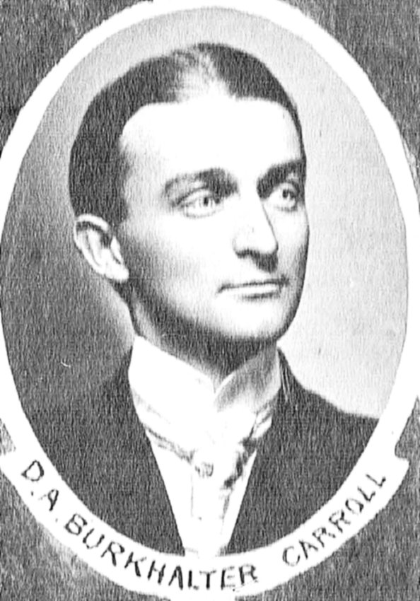 David A. Burkhalter (1880–1932) was elected as mayor of McKenzie when he was 21 years old. He also served as Carroll County judge and editor of The McKenzie Banner.