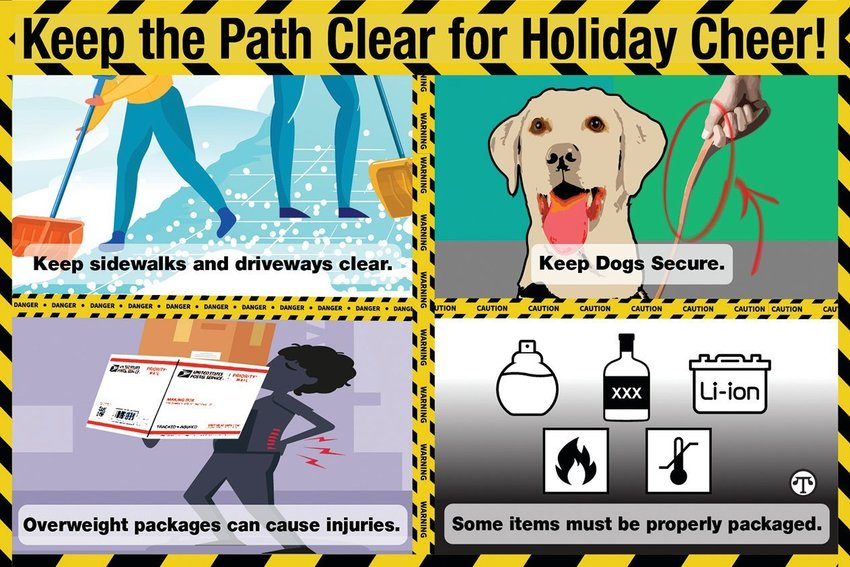 A few simple precautions can help you, your family and your mail carrier have happier, safer holidays.