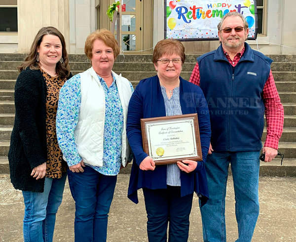 Devon Williams, Kathy Howell, Cindy Holladay, and Kenneth Todd of the Clerk and Master's Office of the Carroll County Chancery Court.