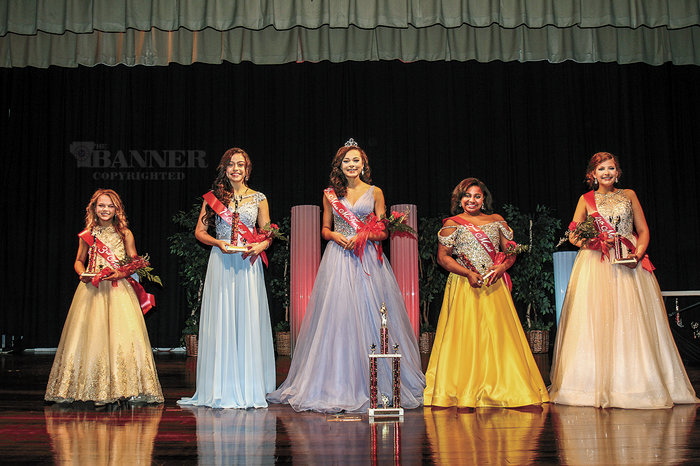 McKENZIE (April 10) — Madeline Gottshall, 12, is the 2021 Junior Miss McKenzie. She is the daughter of Megan and Todd Gottshall. (Pictured L to R) Laila Scott, third maid; Abbi Sumrok, first maid; Queen Madeline Gottshall; Aleecia Williams, second maid; and Bianca Pryor, fourth maid.