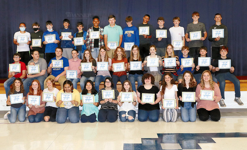 Eighth Grade Honor Roll and Principal's Honor Roll recipients.