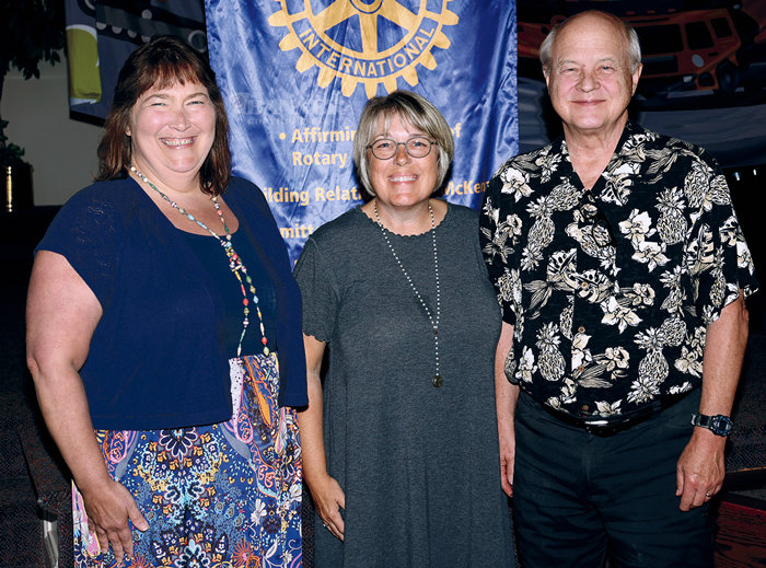Rotary officers for 2021-22 are Kathy Ham, vice-president; Sandi Roditis, president; and Mory Anderson, sergeant at arms.