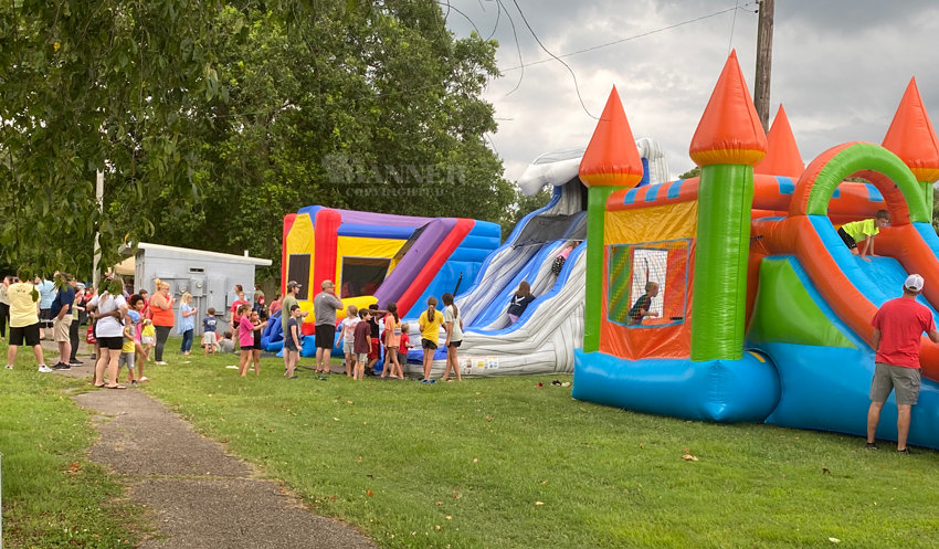 First Baptist Church of McKenzie sponsored the annual Back-to-School Jumpstart on Sunday, July 11 at Mulberry Park.