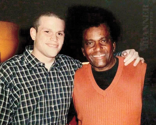 Tyler Tines and dad, Charley Pride.