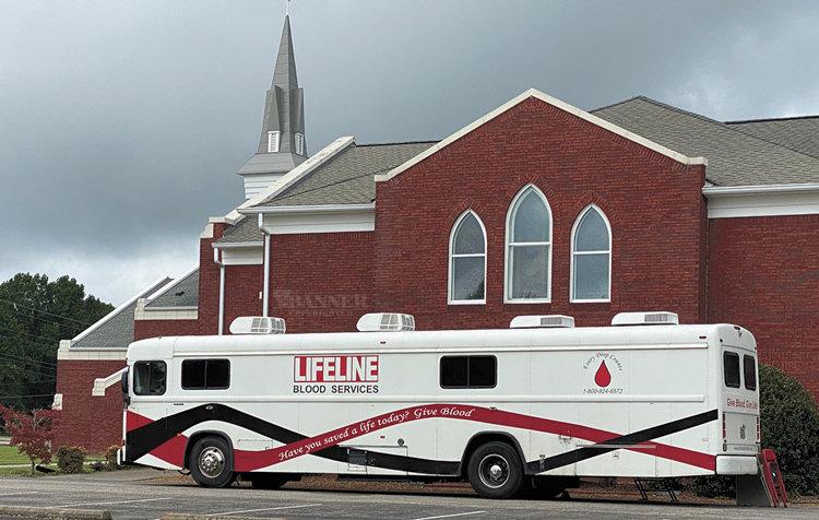 Lifeline's Bloodmobile took blood donations Sunday at First Cumberland Presbyterian Church in McKenzie.