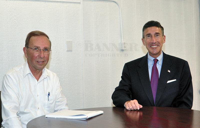 Congressman Kustoff and McKenzie Banner Publisher Joel Washburn.